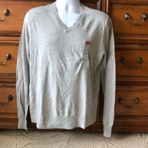Men's Target Merona V-Neck Grey Sweater Large NWT